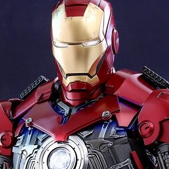 Iron Man Mark III Deluxe Version Marvel Quarter Scale Figure