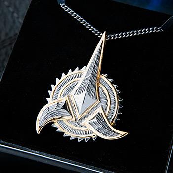 Klingon Necklace Star Trek Jewelry