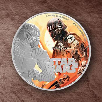 Kylo Ren Silver Coin Star Wars Silver Collectible