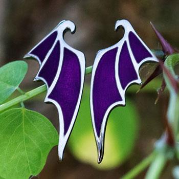 Maleficent Dragon Wing Earrings Disney Jewelry