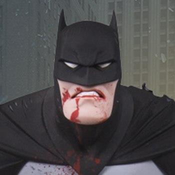 Metal Batman DC Comics Statue