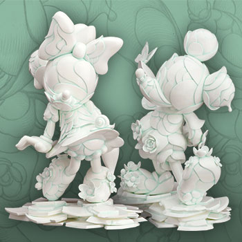 Mickey Mouse and Minnie Mouse 90th Anniversary Edition Disney Statue