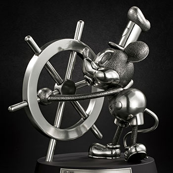 Mickey Mouse Limited Edition Steamboat Willie Figurine Disney Pewter Collectible