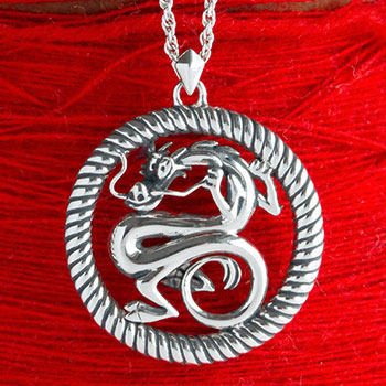 Mushu Medallion (Silver) Necklace Disney Jewelry