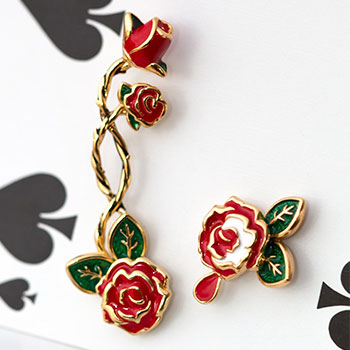 Painting the Roses Ear Climber and Stud Disney Jewelry