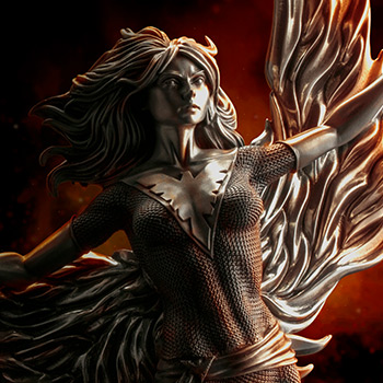 Phoenix Arising Figurine Marvel Pewter Collectible