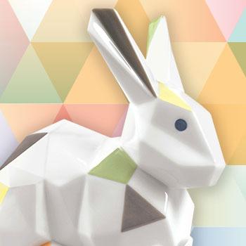 Rabbit Porcelain Statue
