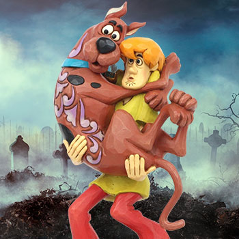 Shaggy Holding Scooby-Doo Figurine