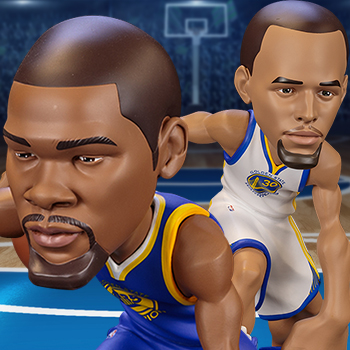 Stephen Curry and Kevin Durant SmALL-Stars NBA Collectible Set