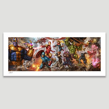 The Avengers: Earth's Mightiest Heroes Marvel Art Print