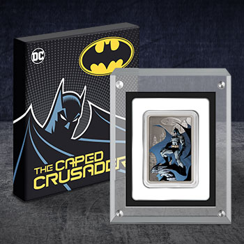 The Caped Crusader - Gotham City Silver Coin DC Comics Silver Collectible