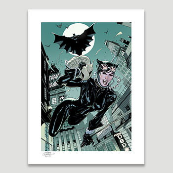 The Getaway: Batman & Catwoman DC Comics Art Print