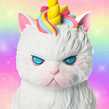 Unicat (Rainbow Ice-Cream) Strange Cat Vinyl Collectible