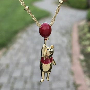 Winnie the Pooh Balloon Necklace Disney Jewelry