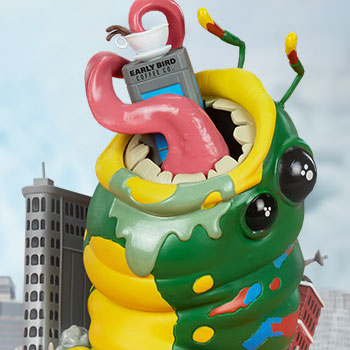Wrath of Wormzilla! Sideshow Originals Designer Collectible Toy