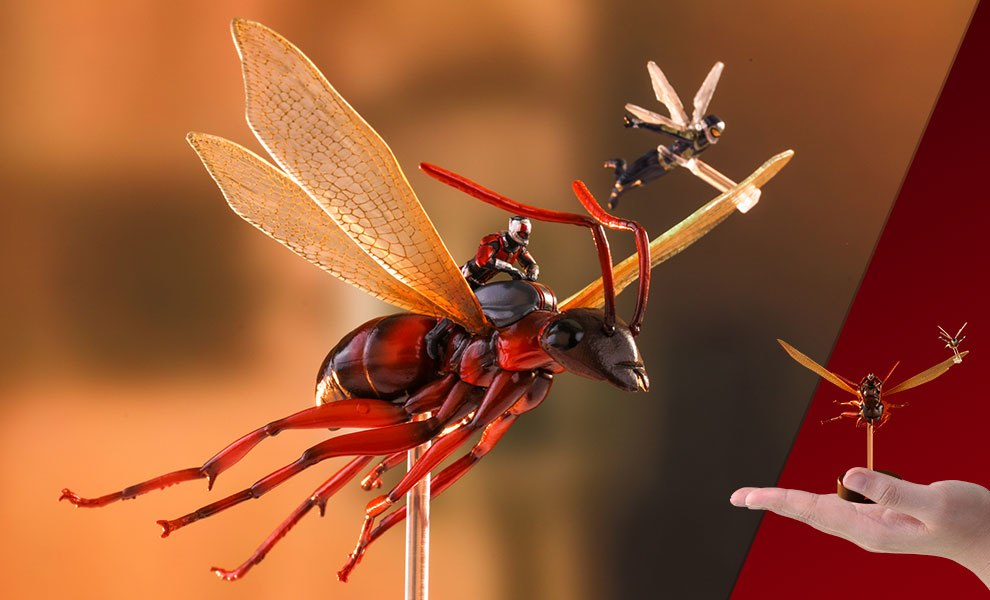 Ant-Man on Flying Ant and the Wasp Marvel Diorama