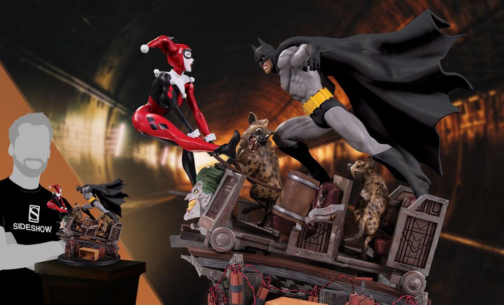 Batman VS. Harley Quinn Battle DC Comics Statue