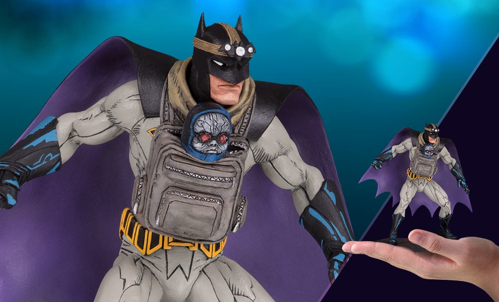 Batman with Darkseid Baby DC Comics Statue