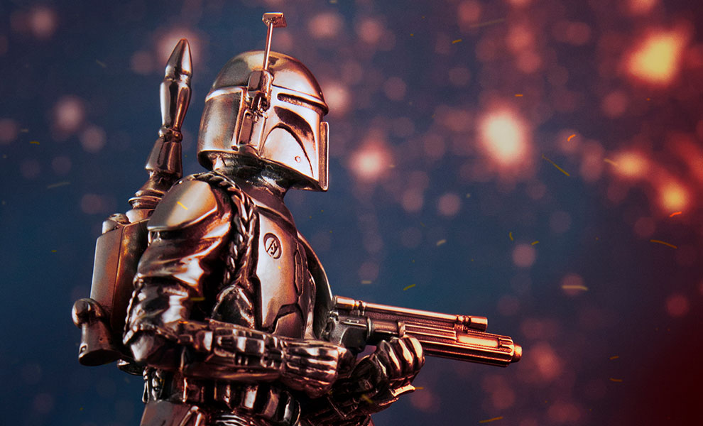 Boba Fett Figurine Star Wars Pewter Collectible