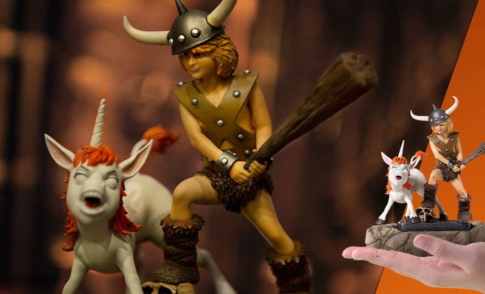 Bobby the Barbarian and Uni Dungeons and Dragons Statue