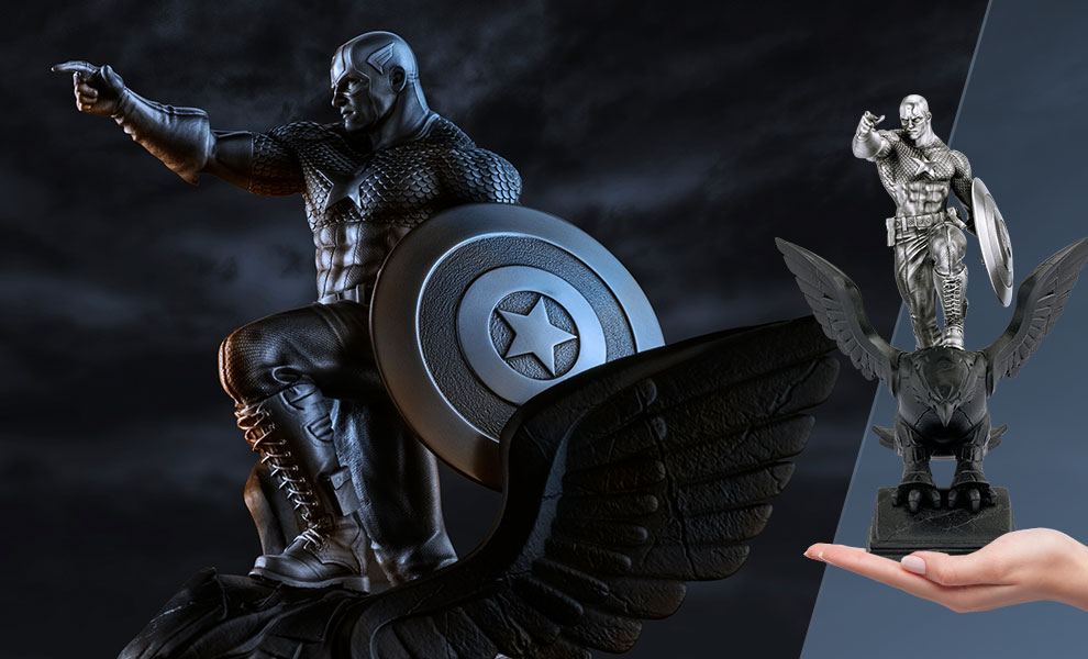 Captain America Resolute Figurine Marvel Pewter Collectible