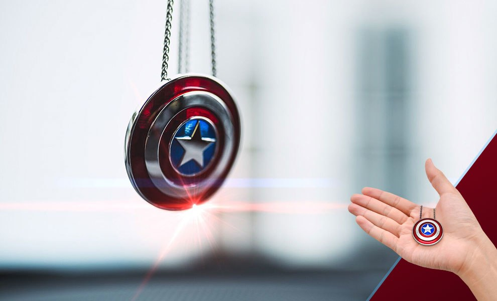 Captain America Shield Necklace - Large Marvel Jewelry