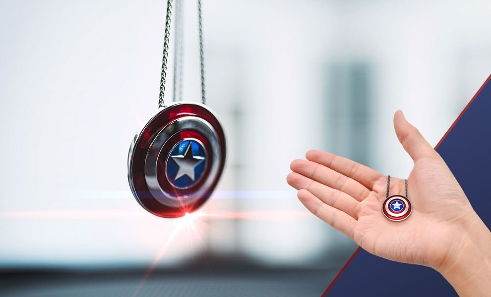 Captain America Shield Necklace - Small Marvel Jewelry