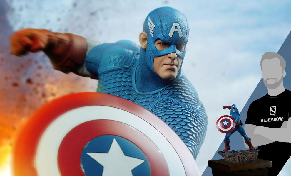 Captain America Marvel Statue - Avengers Assemble