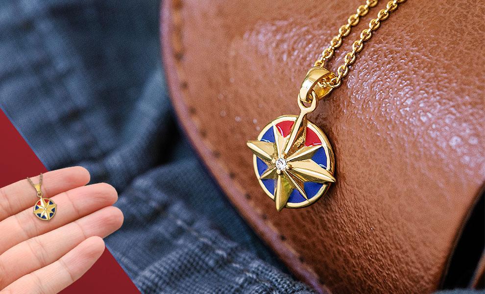 Captain Marvel Star Necklace Marvel Jewelry