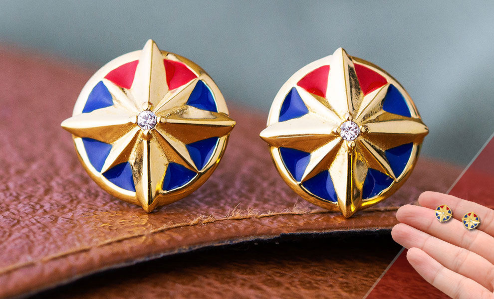 Captain Marvel Star Stud Earrings Marvel Jewelry