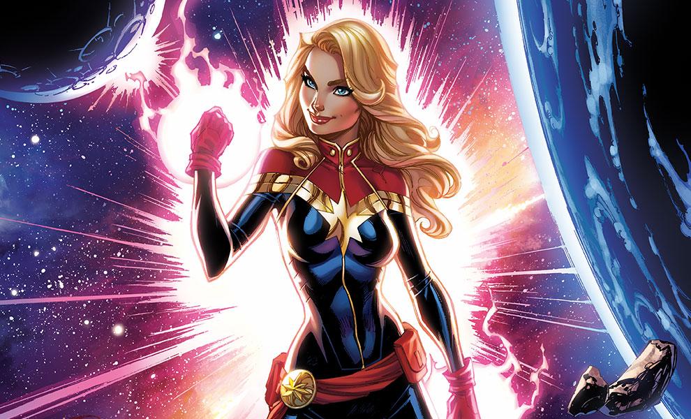 Captain Marvel Marvel Art Print