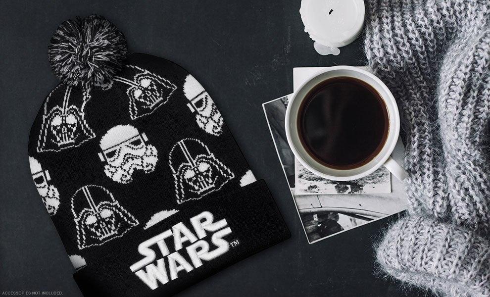 Darth Vader Stormtrooper Black and White Beanie Star Wars Apparel