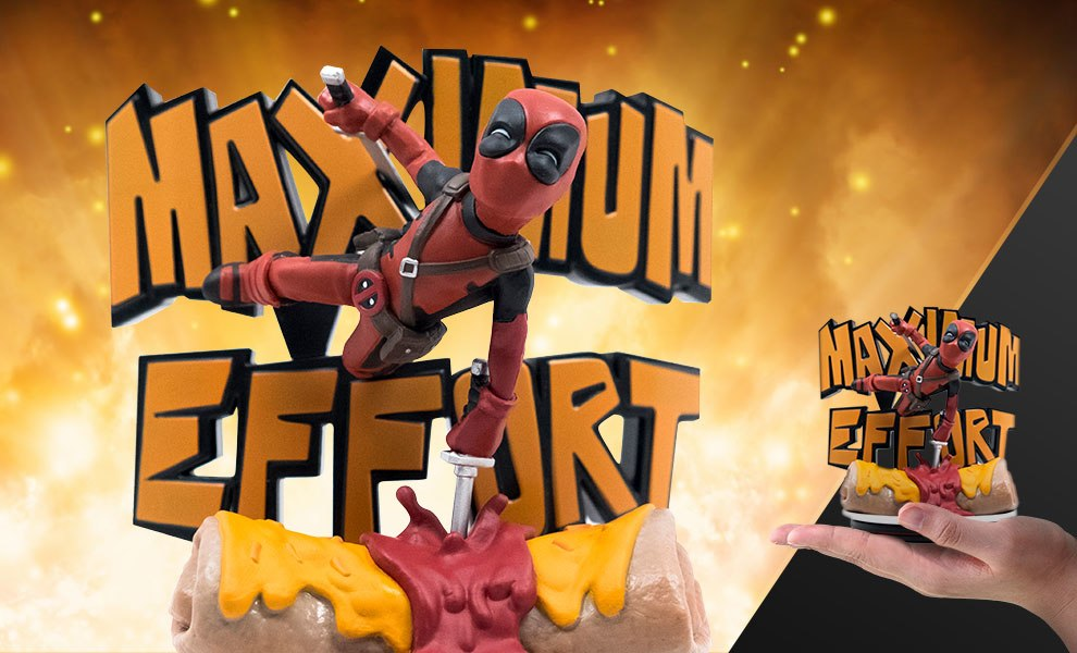 Deadpool Maximum Effort Q-Fig Max Marvel Diorama