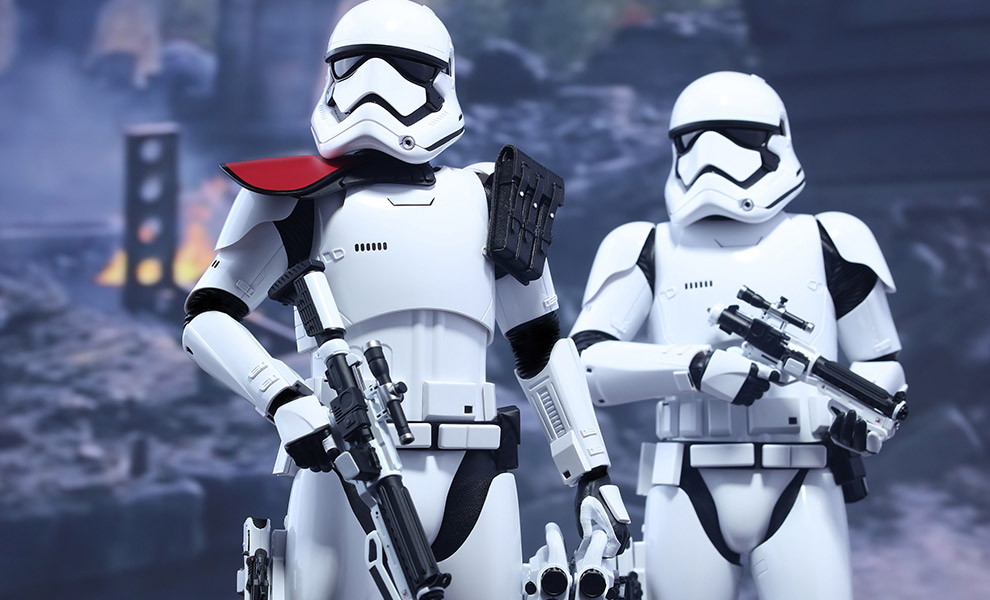 First Order Stormtrooper Officer and Stormtrooper Star Wars Sixth Scale Figure