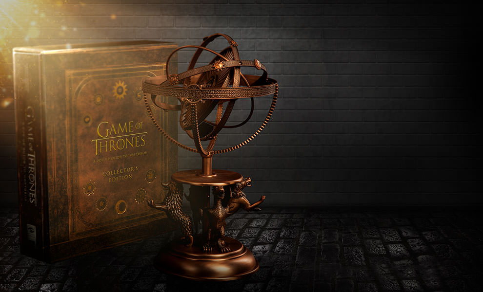 Game of Thrones Astrolabe with Game of Thrones A Pop-Up Guide to Westeros Collectors Edition