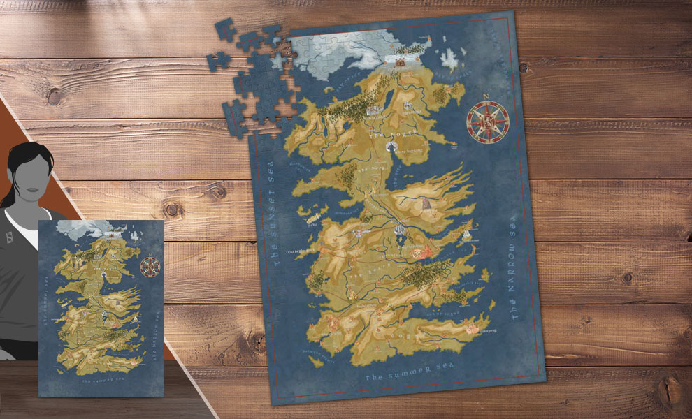 Game of Thrones: Cersei Lannister Westeros Map Game of Thrones Puzzle