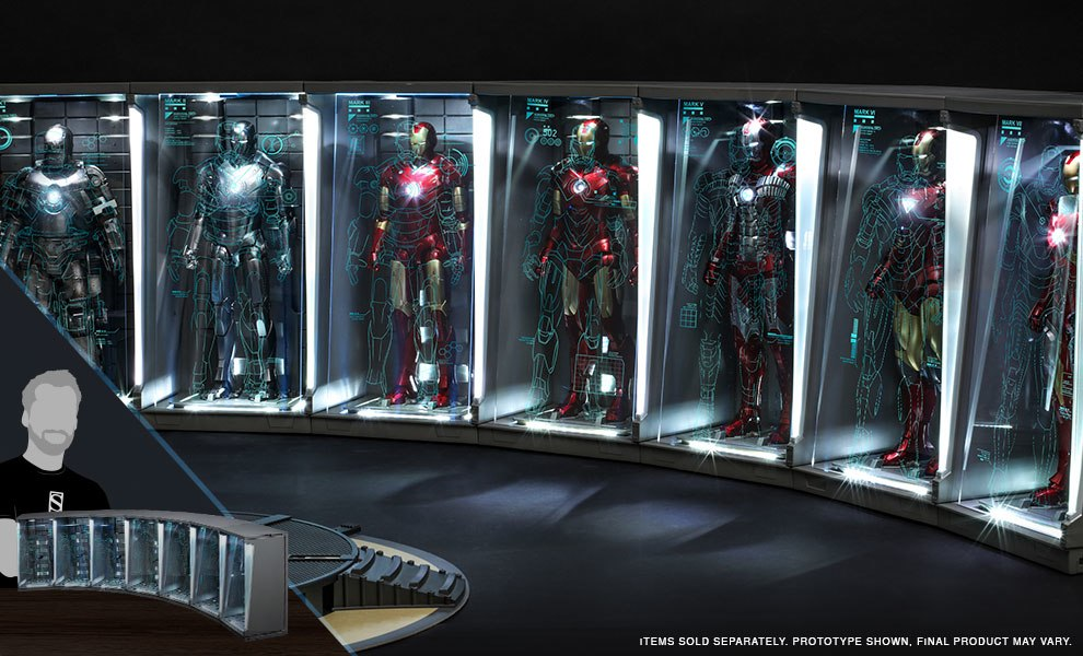 Hall of Armor Set of 7 Marvel Sixth Scale Figure Accessory