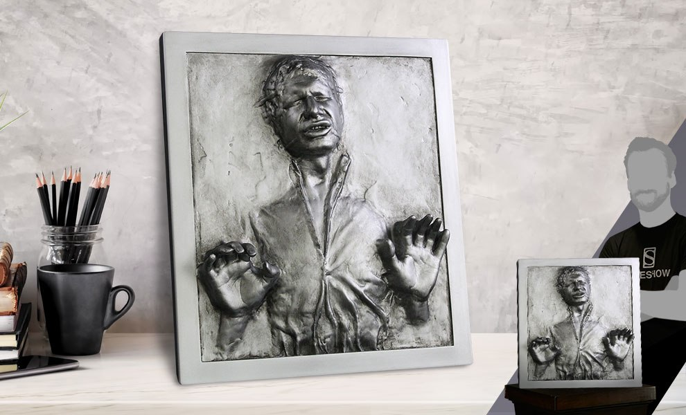 Han Solo in Carbonite Plaque Star Wars Statue