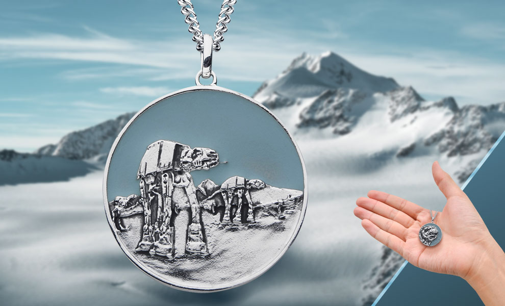 Hoth Planetary Medallion Star Wars Jewelry