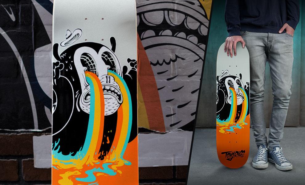 I See Colours Tony Riff Skateboard Deck