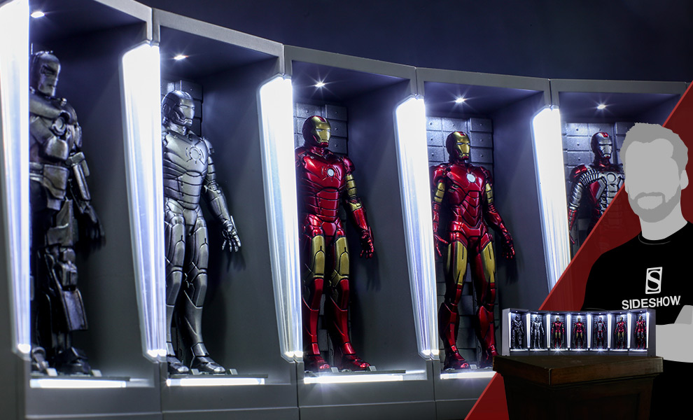 Iron Man Hall of Armor Miniature Marvel Collectible Set