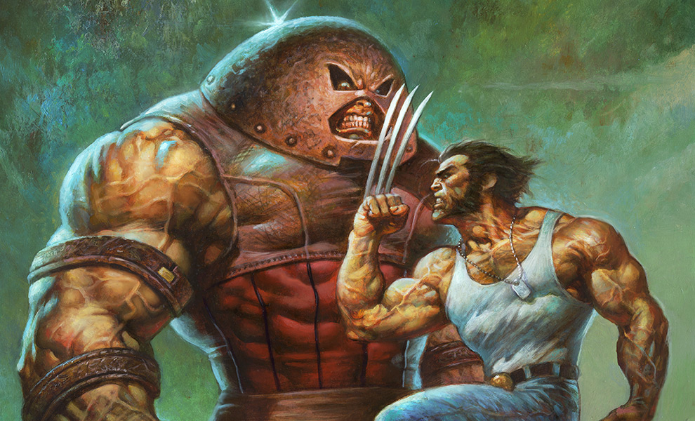 Juggernaut VS Wolverine Marvel Art Print