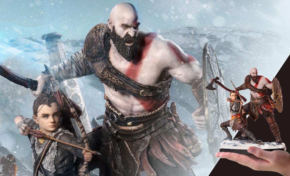 Kratos & Atreus Deluxe God of War Statue