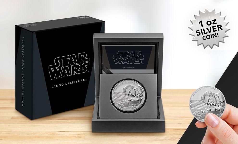 Lando Calrissian Silver Coin Star Wars Silver Collectible