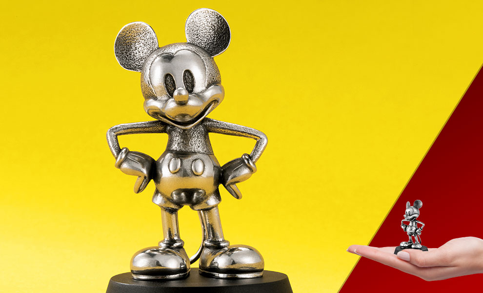 Mickey Mouse Steamboat Willie Figurine Disney Pewter Collectible