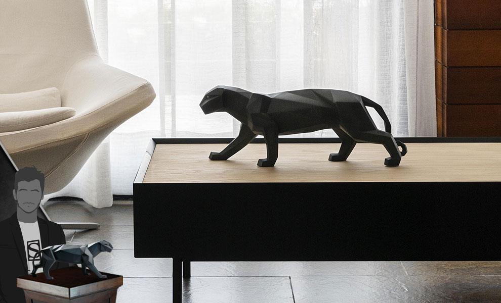 Panther (Black Matte) Figurine