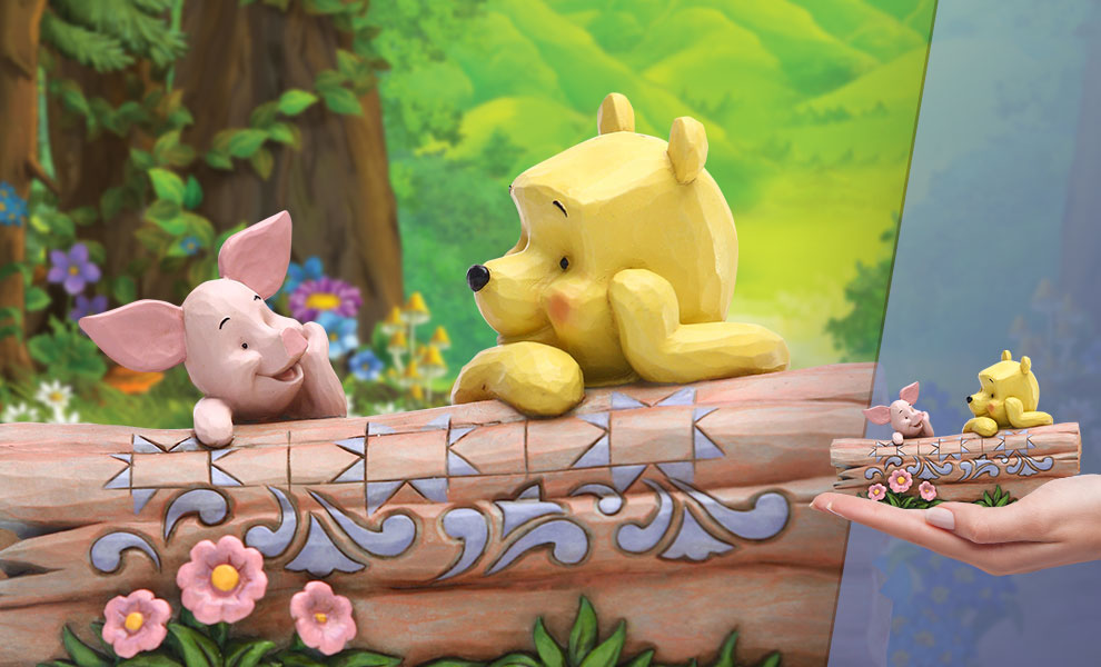 Pooh and Piglet by Log Disney Figurine