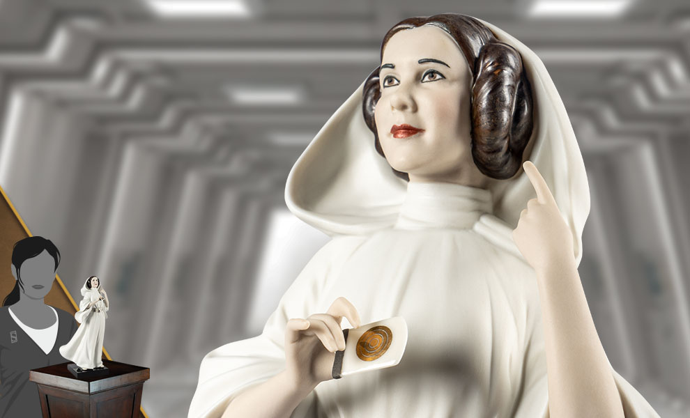 Princess Leia Star Wars Porcelain Statue