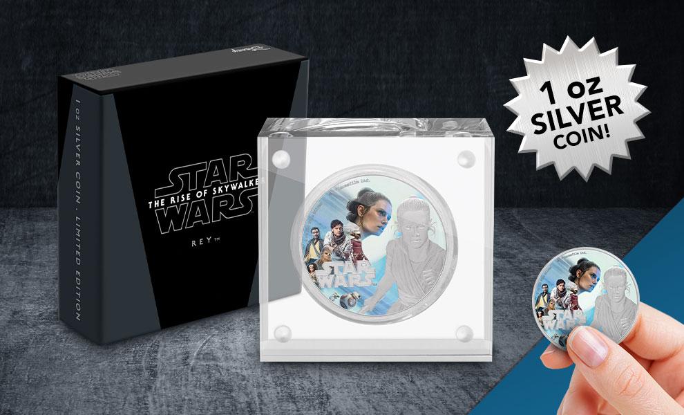 Rey Silver Coin Star Wars Silver Collectible