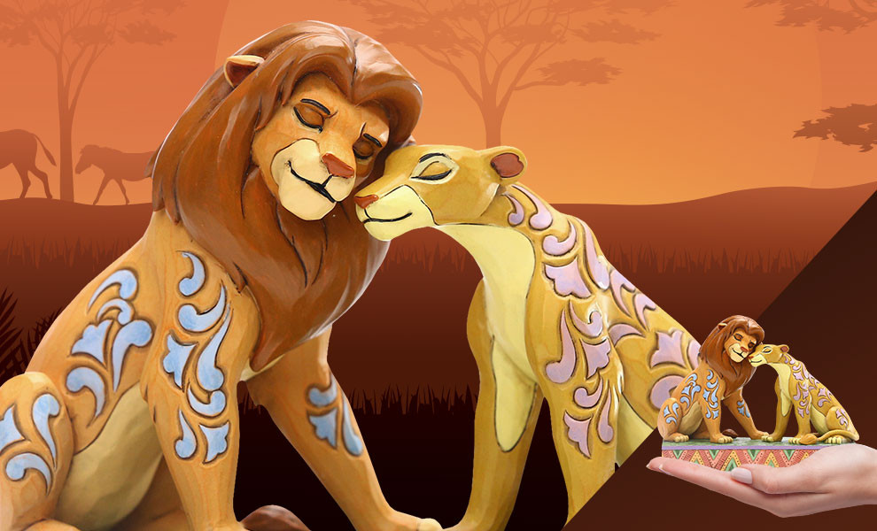 Simba and Nala Snuggling Disney Figurine
